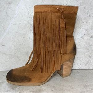 Denim & Supply Ralph Lauren Brown Mina Fringe Boot